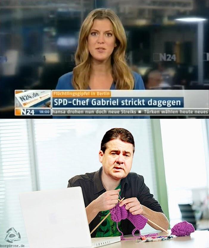 Gabriel strickt dagegen