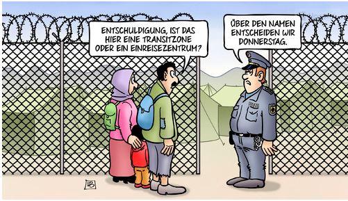 transitzone oder einreise