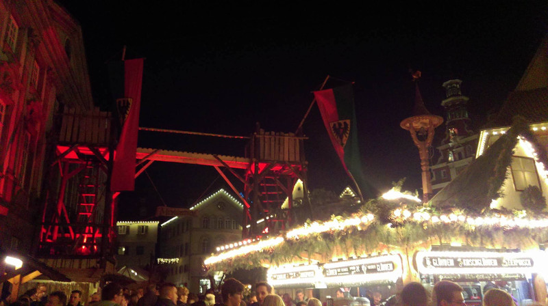 Der Eingang zum Mittelaltermarkt