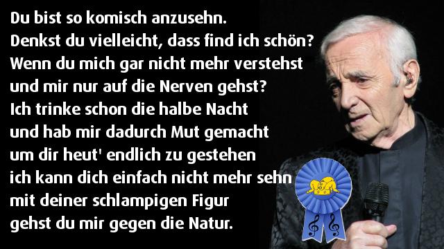 Charles Aznavour Von Mensch Zu Mensch
