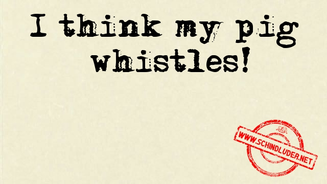 i think my pig whistles